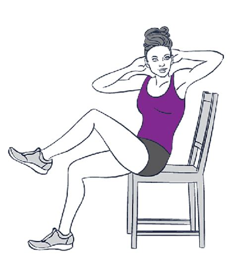 chair exercises to help you get a flatter stomach