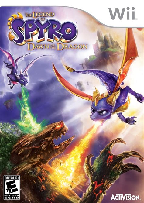 legend  spyro dawn   dragon nintendo wii game