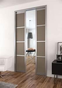 Porte à Galandage Prix : porte galandage des portes coulissantes belles et ~ Premium-room.com Idées de Décoration