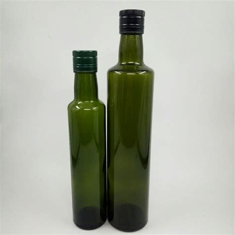 Olive oil bottle banner template, glass blank flask floating in liquid green flow with leaves and berries. Round Antique Green Olive Oil Glass Bottle - Buy Glass ...