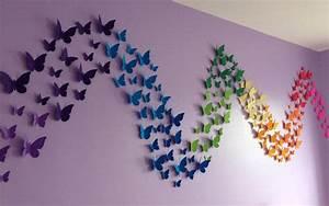Butterfly pattern wall decor quiet corner