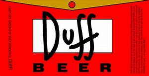 duff the simpsons photo 33218584 fanpop With duff beer label