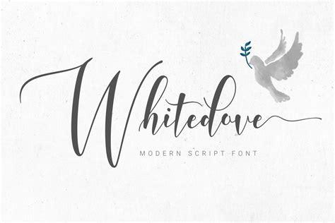 Whitedove Modern Script By Fadeline  Font Bundles