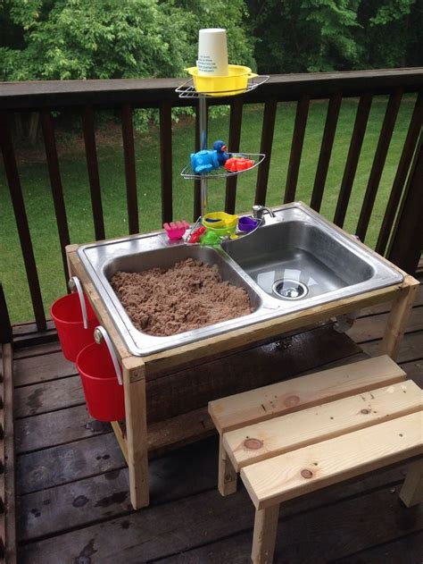 how to sand a table diy sand and water table made from a thrift store kitchen