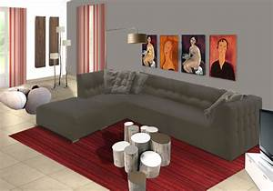 Decoration Salon Contemporain : d coration salons contemporains ~ Teatrodelosmanantiales.com Idées de Décoration