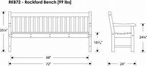 Park Bench Dimensions | Treenovation