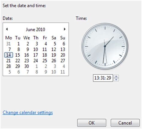 how do you change the time on your iphone win7 04 setting the date and time high vista computer club