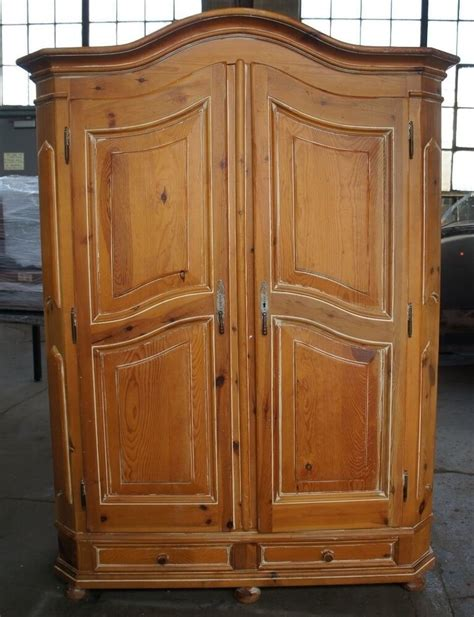 Large Clothing Wardrobe Armoire by Vtg Distressed Pine Bedroom Clothing Armoire Country