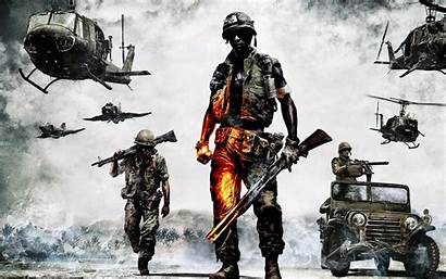 Battlefield Bad Company Vietnam Helicopter Soldiers Wallpapers