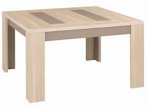 table carree 130 cm atlanta coloris chene clair vente de With couleur pour salle de jeux 6 buffet basalte vente de buffet de cuisine conforama