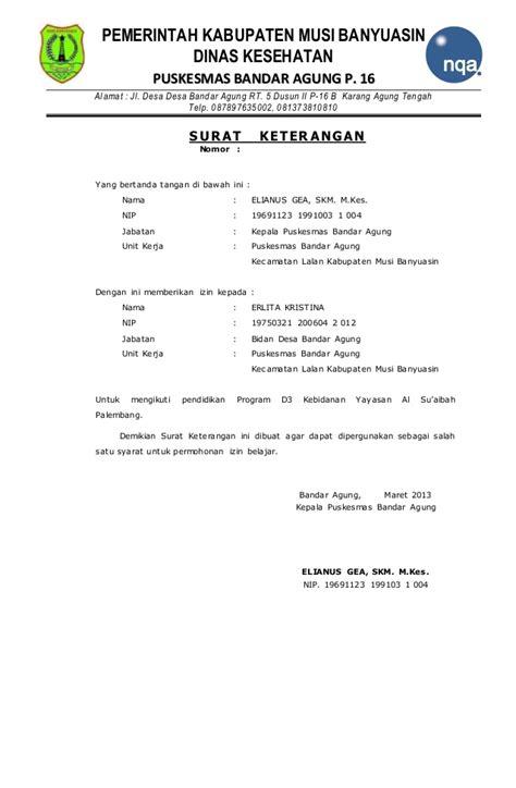 Surat Ijin Kerja Dinas by Surat Pernyataan Bersedia Mengabdi Kembali