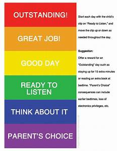 Printable Color Coded Behavior Chart - Happiness is Homemade
