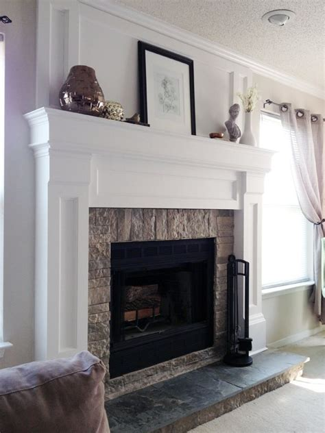diy fireplace mantel redo fireplace design diy
