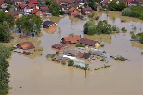 flooding forces evacuation   serbian villages