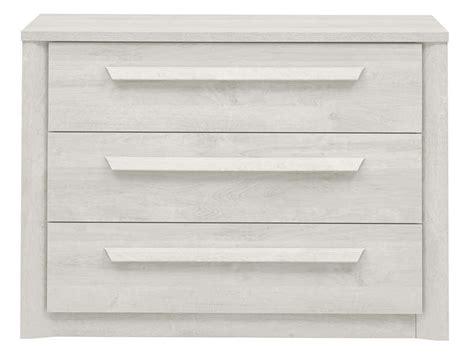 chambre chene blanchi commode 3 tiroirs coloris chêne blanchi vente de