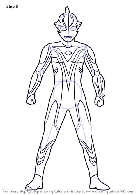 learn   draw ultraman mebius ultraman step  step drawing tutorials
