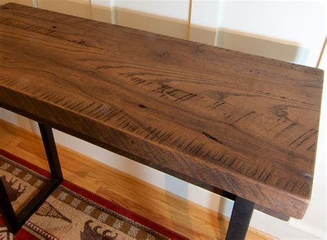 rustic wood entry table buy a custom made reclaimed wood sofa table rustic tall