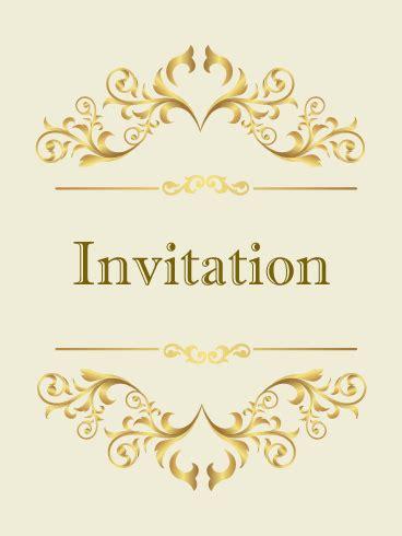 classic golden invitation card birthday greeting cards