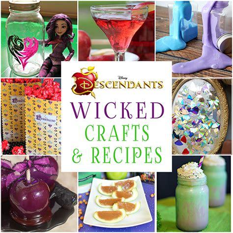 wicked disney descendants crafts  recipes glitter