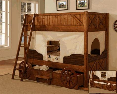 Old Western Covered Wagon Bunk Bed Adorable For Th On My