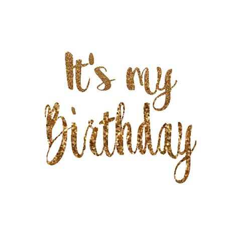 birthday decal birthday girl iron  letters gold