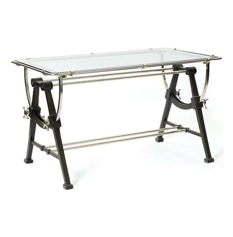 glass and iron table nautical contemporary iron brass and glass dining table