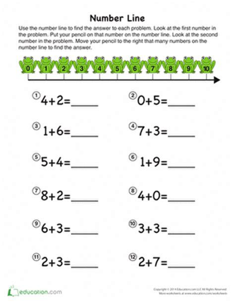 adding with a number line kg2 math kindergarten math worksheets kindergarten math math