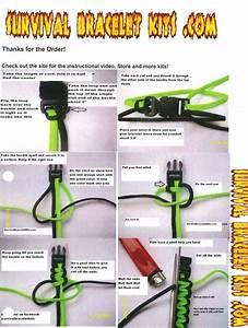 Details About Survival Bracelet Instructions Includes Cord