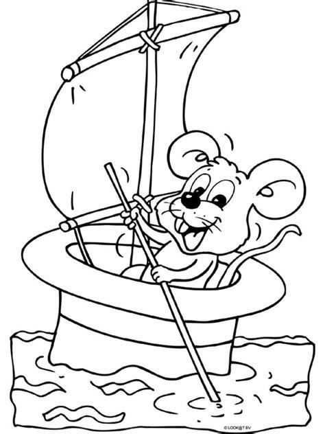 Kleurplaat Kleine Muis by Kleurplaat Muis In Boot Muizen