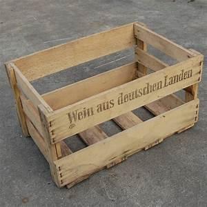 Geflochtene Körbe Kaufen : alte gebrauchte weinkiste holz der herzapfelhof im alten land ~ Whattoseeinmadrid.com Haus und Dekorationen