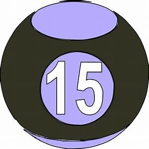 Billard Ball 15 Clip Art at Clker.com - vector clip art ...