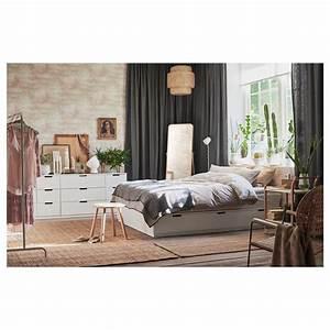 Cadre Lit Avec Rangement : nordli cadre lit avec rangement blanc 140 x 200 cm ikea ~ Teatrodelosmanantiales.com Idées de Décoration