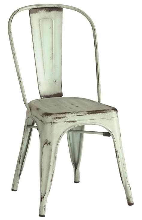 bellevue blue metal dining chair set of 4 105614 coaster