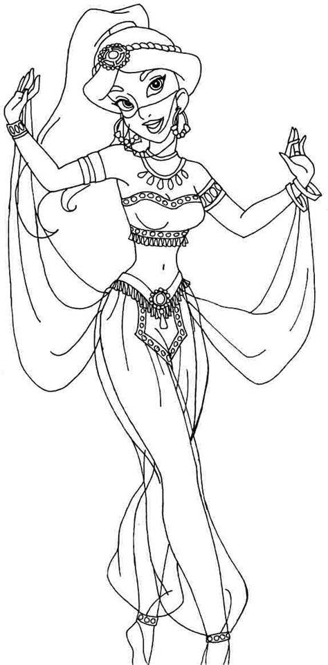 printable princess jasmine coloring pages az coloring pages