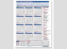 2018 Employee Vacation Request Calendar Calendar