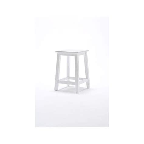 tabouret en bois blanc royan