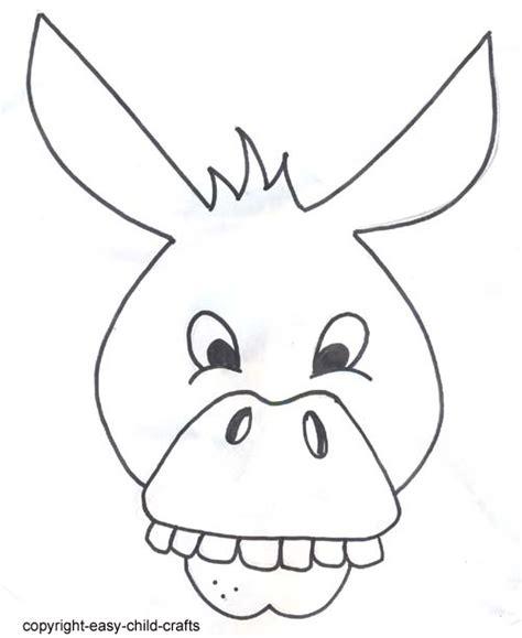printable donkey mask template  image