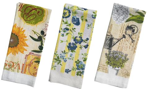 Kitchen Towels Wholesale by Floral Terry Printed Kitchen Towel Size 15x25 Pack