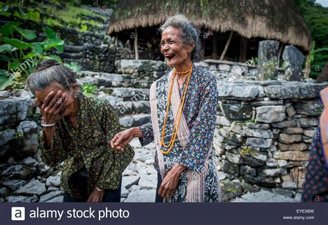 Timorese Woman Laughing At Liurai Village Timor Leste
