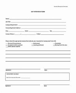 10 sample exit interview forms sample templates With exit interview forms templates