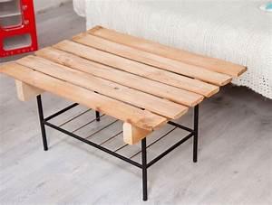 Fabriquer Une Table Basse En Palette : diy brico comment se fabriquer une table basse avec des palettes biba ~ Melissatoandfro.com Idées de Décoration