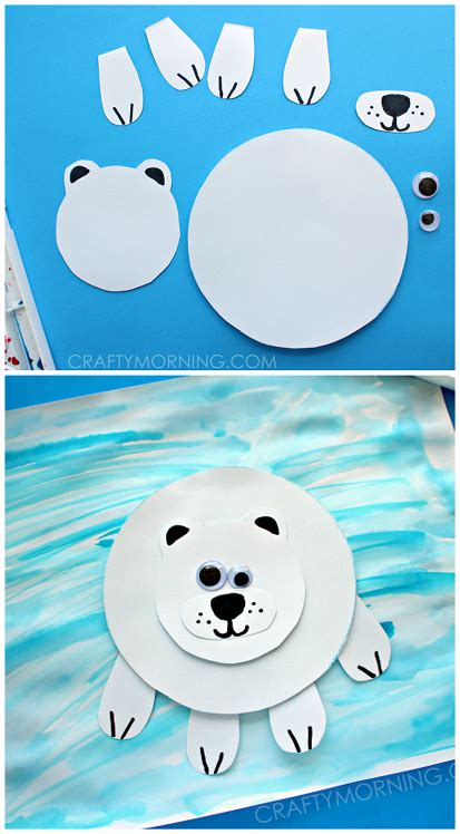 polar bear crafts for preschoolers paper polar on craft for crafty morning 204
