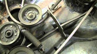 Craftsman Lt1000 Deck Belt Routing by Craftsman Dyt 4000 Mower Deck 48 Quot Cut Youtube