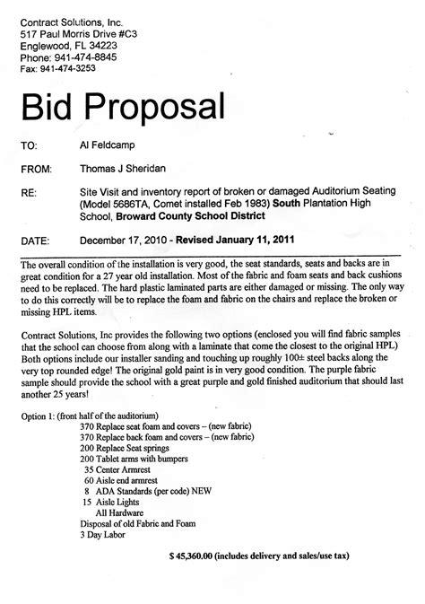 bid proposal cover letter sample  details