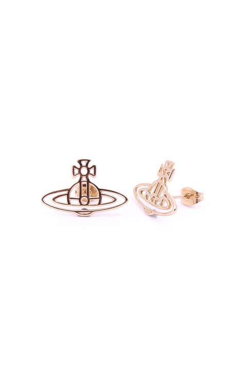 vivienne westwood jewellery thin lines flat orb earrings