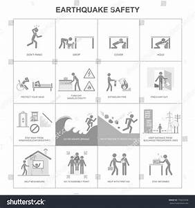 Earthquake Safety Procedure Stock Vector 176623358