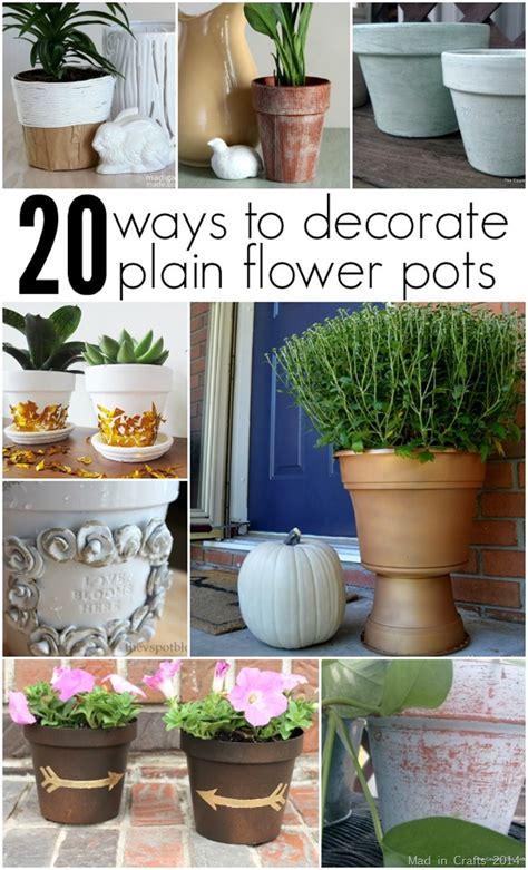 decorating flower pots decorative flower pots in crafts