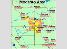 Modesto Zip Codes Map Zip Code Map