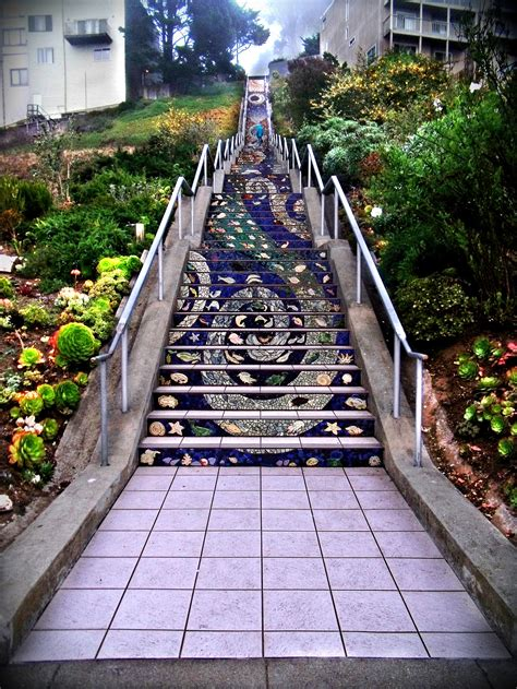 16th Avenue Tiled Mosaic Steps San Francisco by The 16th Avenue Tiled Steps Stitch