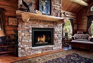 Rustic, Gas, Fireplace, Design, Ideas, U2013, Goodsgn